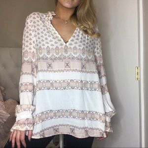 Free people v neck blouse